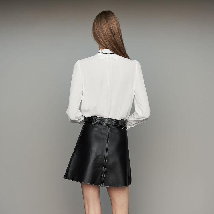 Camisa con detalles de guipur : Prêt-à-porter color Blanco