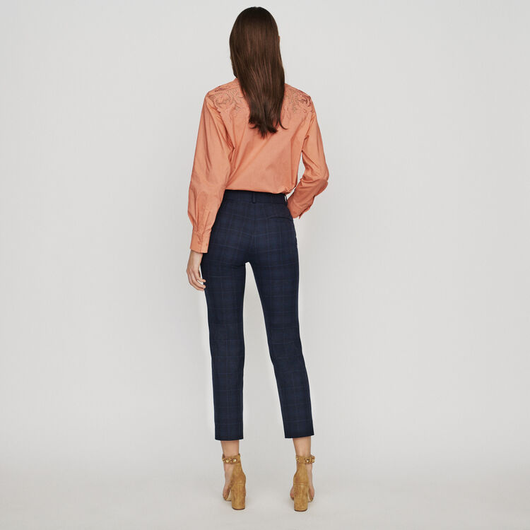 Pantalón 7/8 de cuadros difusos : Pantalones y Jeans color Azul Marino