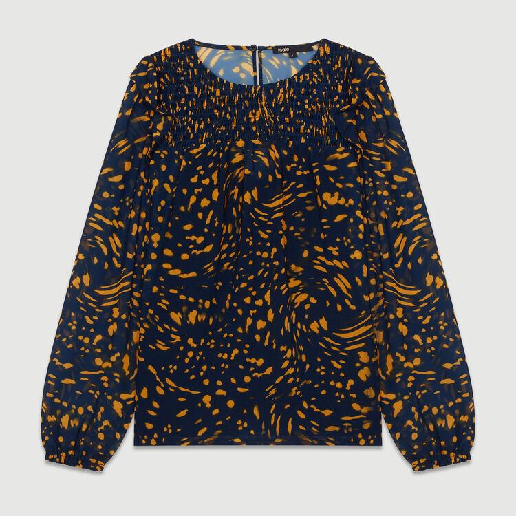 Blusa estampadacon volantes : Tops color IMPRIME