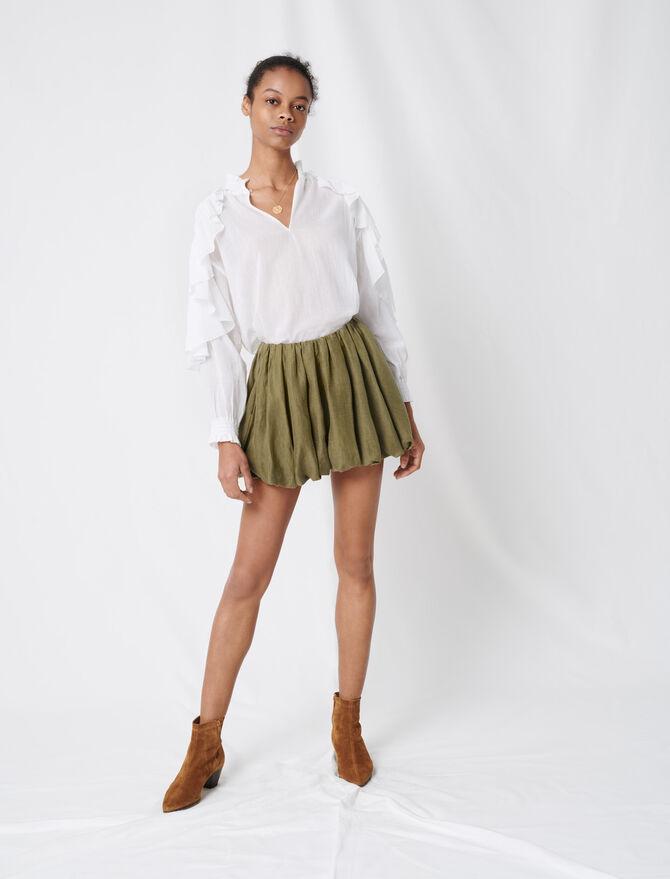 Blusa de algodón con volantes - Tops y Camisas - MAJE