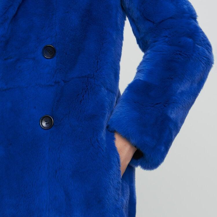 Abrigo corto de piel : Esta semana color Azul