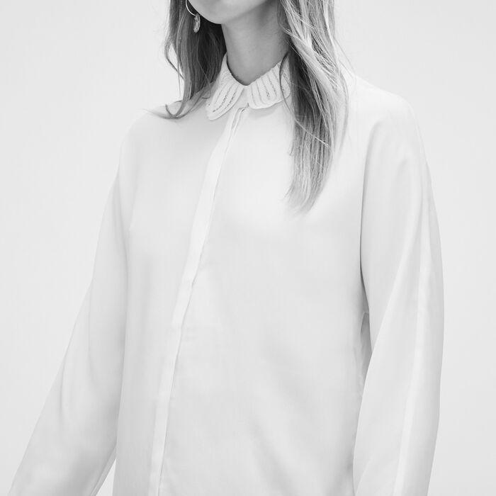 Camisa de mezcla de seda - Tops - MAJE