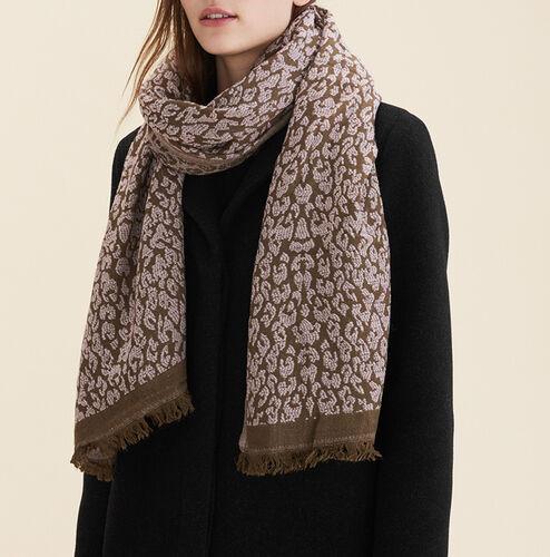 Bufanda con estampado de leopardo : Accesorios color Rosa Claro
