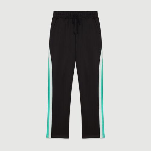 Pantalón de deporte con bandas laterales : Pantalones y Jeans color NEGRO