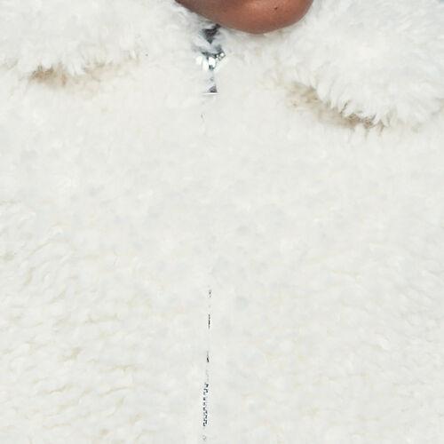 Cazadora corta de piel falsa : Nueva Colección color Blanco