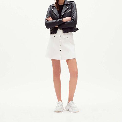 Leather jacket : staff private sale color BLEU NUIT