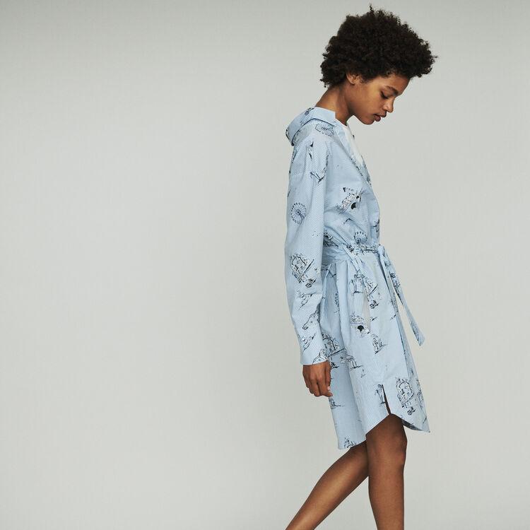 Vestido camisero : Vestidos color Azul