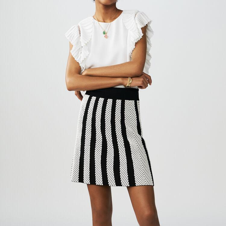 Falda trapecio de punto : Faldas y shorts color Multicolor