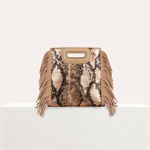 Bolso M Mini de cuero de serpiente : M Mini color Beige