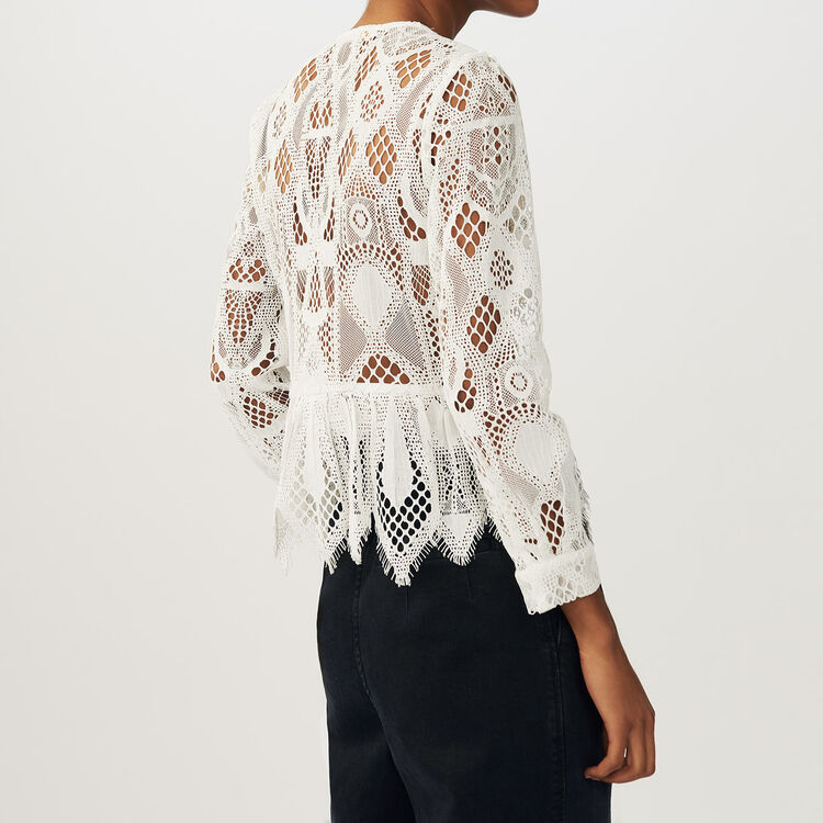 Lace top : Ver todo color Crudo