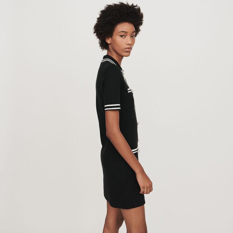 Vestido recto detalles joyas : Vestidos color Negro