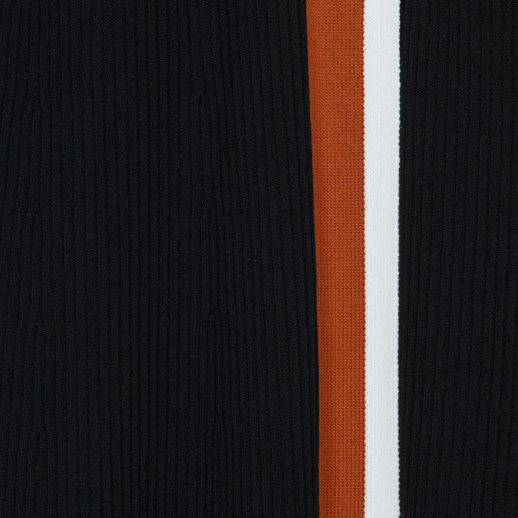 Vestido cruzado de punto : Vestidos color Negro