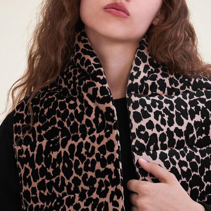Bufanda acolchada estampada de leopardo : Accesorios color IMPRIME