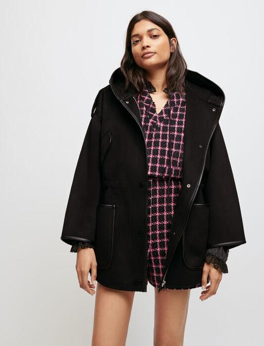 Abrigo doble faz oversize con capucha : Abrigos color Negro