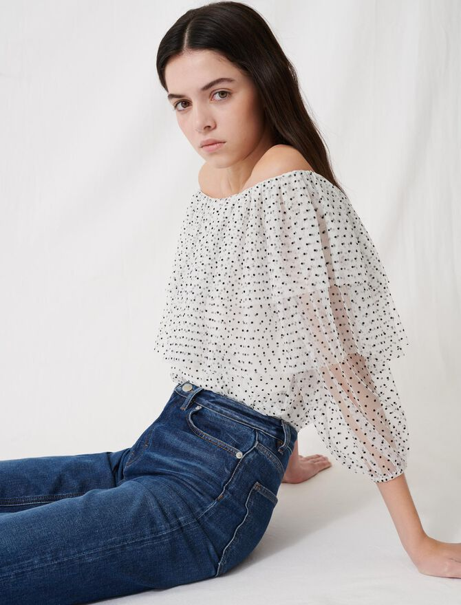 Top de corte blusa de volantes - Tops y Camisas - MAJE