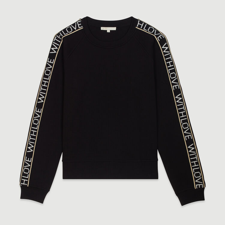 """Sweat """"With Love"""" on sleeves : Jerseys y cárdigans color Negro"""