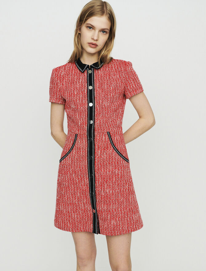 Vestido efecto tweed - Midseason-Sales_ALL_DE - MAJE