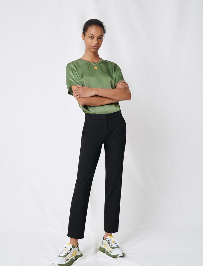 Pantalón de traje en sarga elástica - Pantalones y Jeans - MAJE