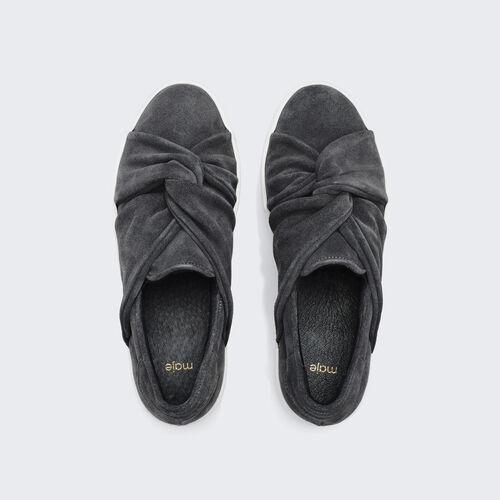 Zapatillas deportivas de ante con lazo : Accesorios color Gris