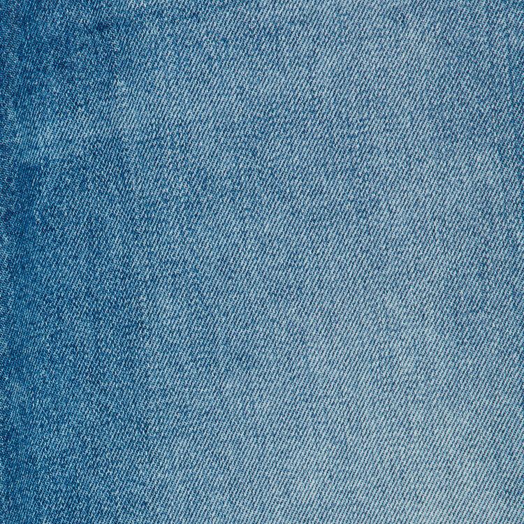 Jean ancho con detalles de desgaste : Jeans color Azul