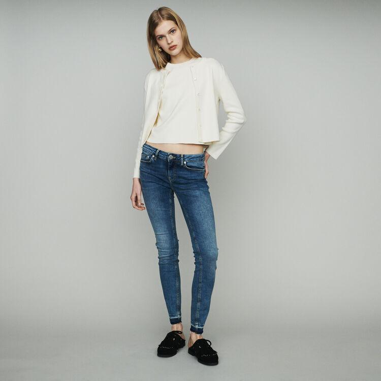 Vaqueros delgados de algodón elástico : Pantalones y Jeans color Denim