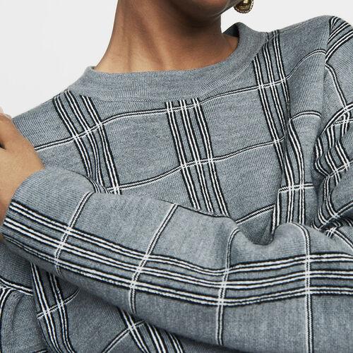 Jersey oversize de punto Jacquard : Prêt-à-porter color CARREAUX