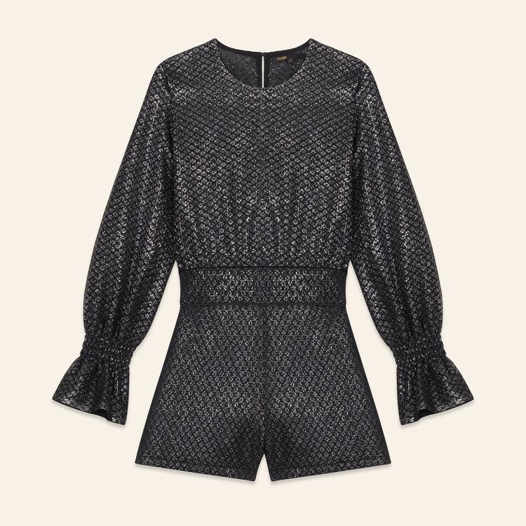 Monoshort de tul y lúrex : Faldas y shorts color Plateado