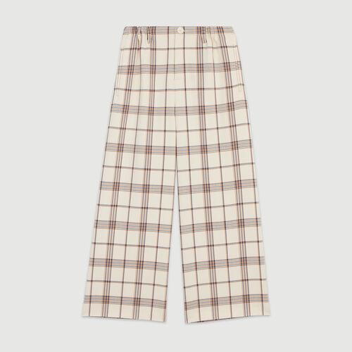 Pantalon pierna ancha de cuadros : Pantalones y Jeans color Carreaux