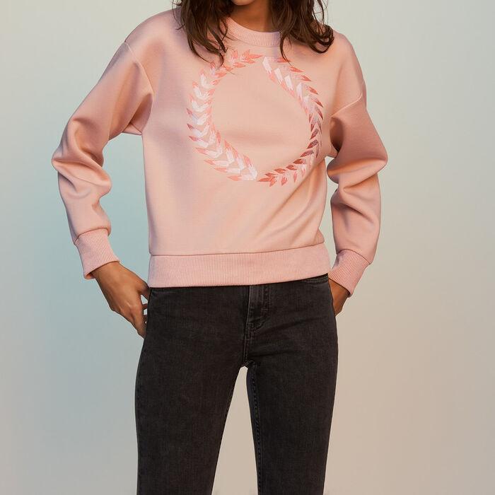 Sudadera con bordados : Nueva colección color PECHE