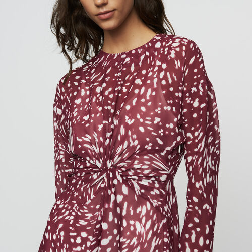 Vestido largo plisao con bordados : Vestidos color IMPRIME
