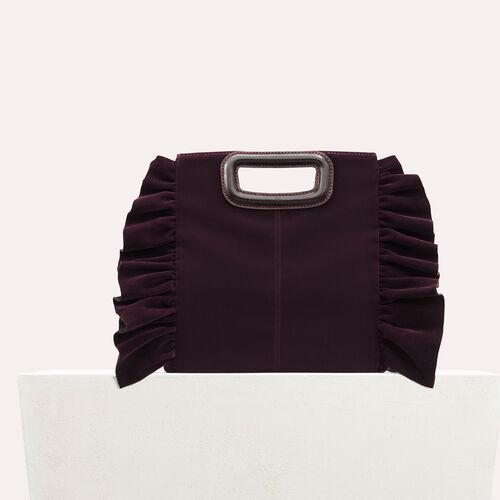 Bolso M de terciopelo con volantes : Estilos de fiesta color BORDEAUX