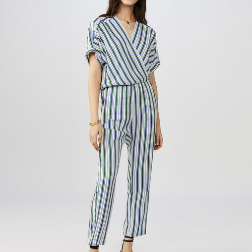 Striped jumpsuit : Pantalones color Rayas