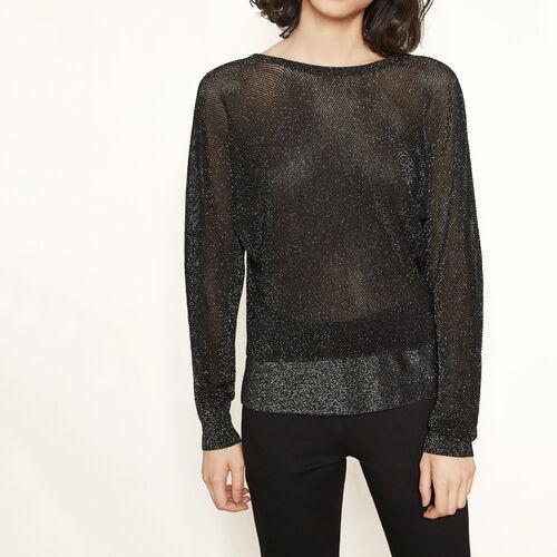 Jersey punto lúrex espalda descubierta : Jerseys y cárdigans color Negro