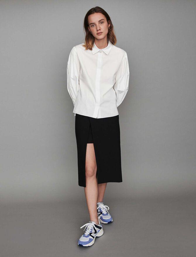 Blusa en popelina con botones joya - Tops y Camisas - MAJE