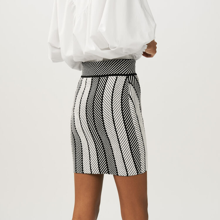 Falda cruzada de punto : Faldas y shorts color Multicolor