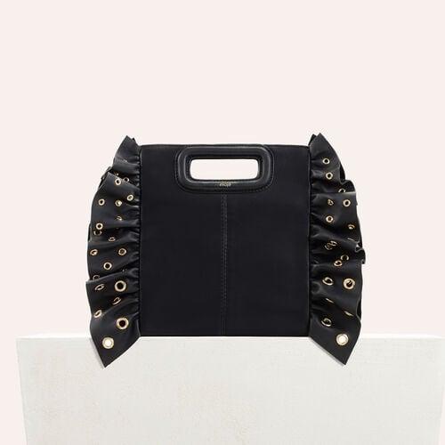 M Tasche mit Rüschen : Rebajas color Negro