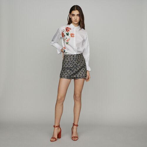 """Short """"trompe l'œil"""" de Jacquard : Faldas y shorts color Jacquard"""