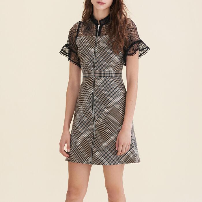 Vestido corto de doble género : Vestidos color Jacquard