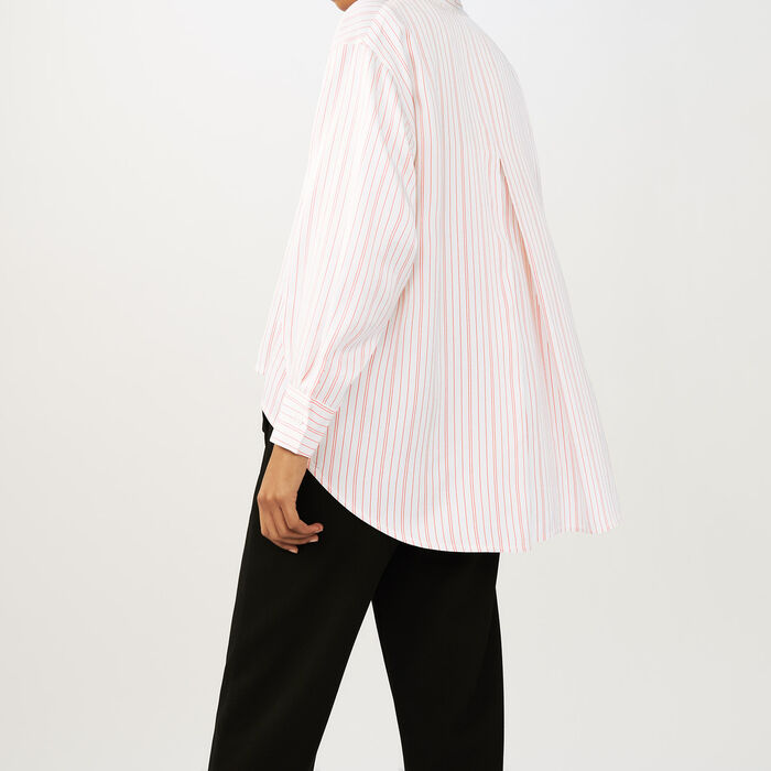 Camisa overzise de rayas : Camisas color Rayas