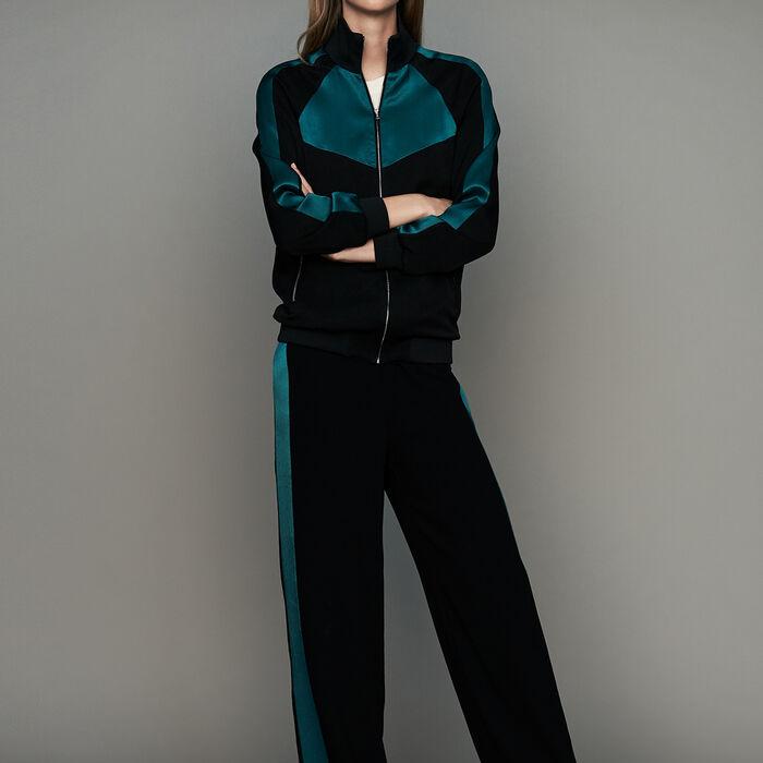 Chaqueta estilo sportswear bicolor : Prêt-à-porter color Negro