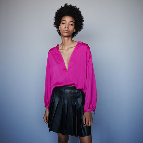 Top de raso : Tops y Camisas color Rosa