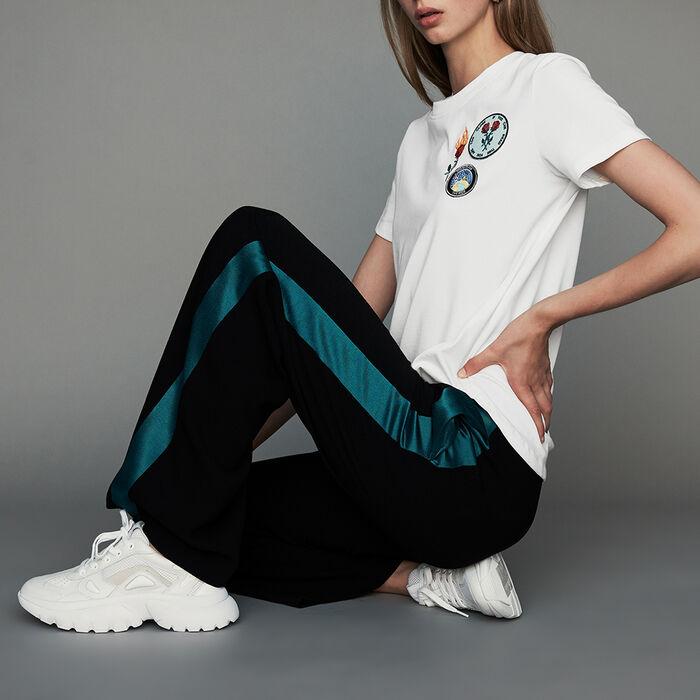 Pantalón ancho bicolor : Nueva Colección color Negro