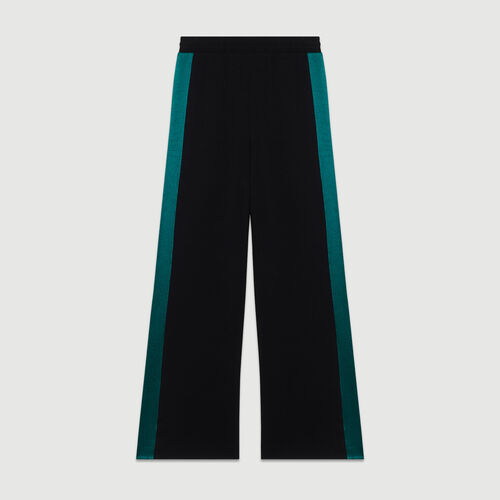 Pantalón ancho bicolor : Pantalones color Negro