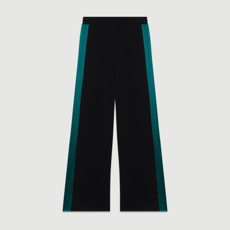 Pantalón ancho bicolor : Urban color Negro