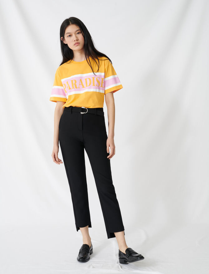 Straight pants belted - Pantalones y Jeans - MAJE