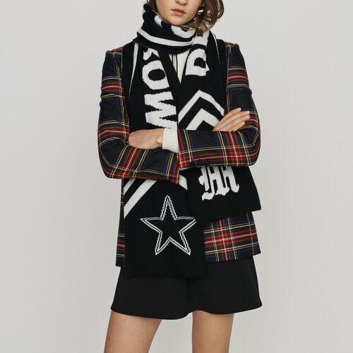 Bufanda con texto a contraste : Pañuelos & Ponchos color Negro
