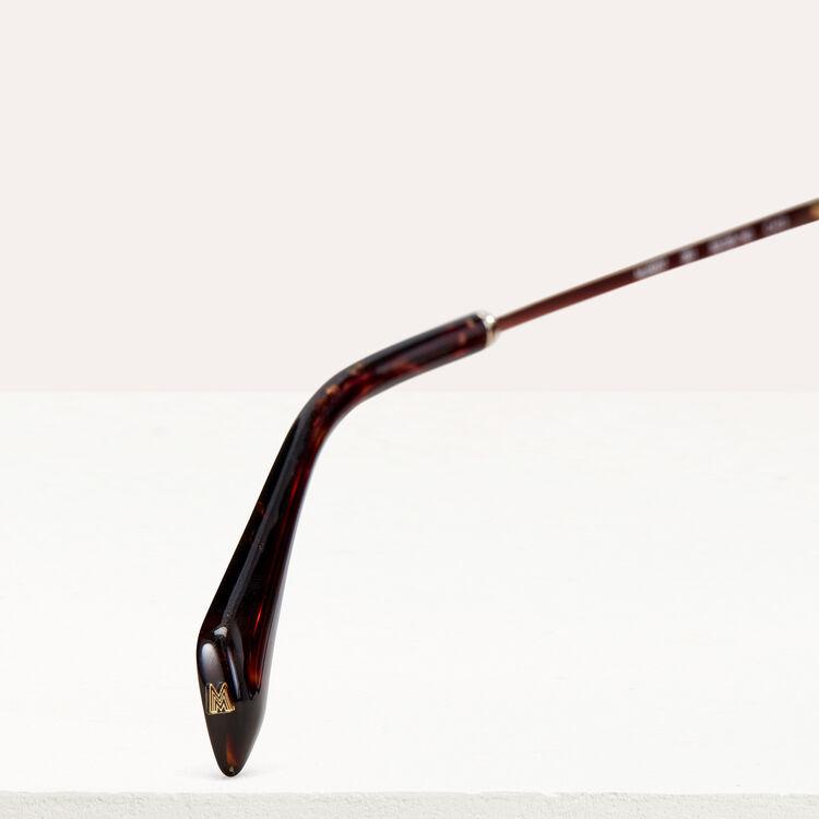 Gafas de sol de metal y acetato : Gafas color ECAILLE