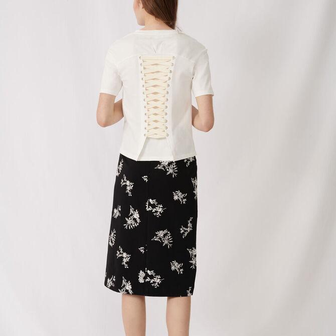 Camiseta crudo con lazada posterior -  - MAJE