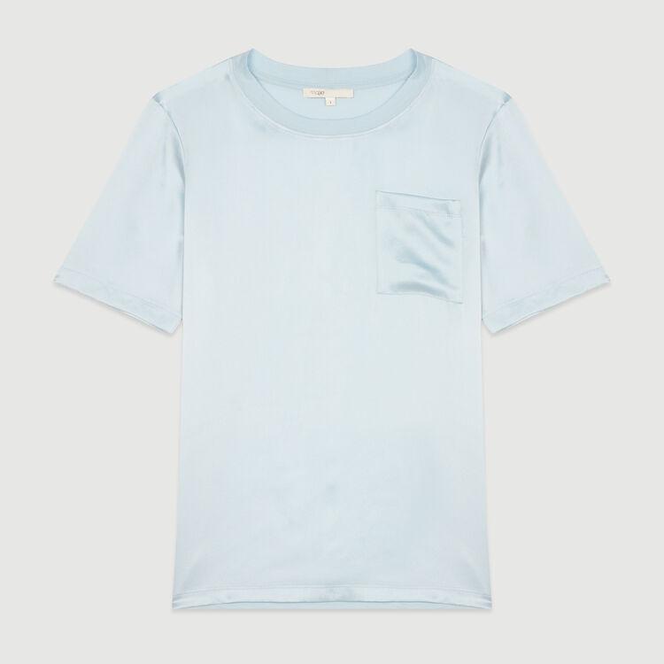 Camiseta bimateria : T-Shirts color Rojo