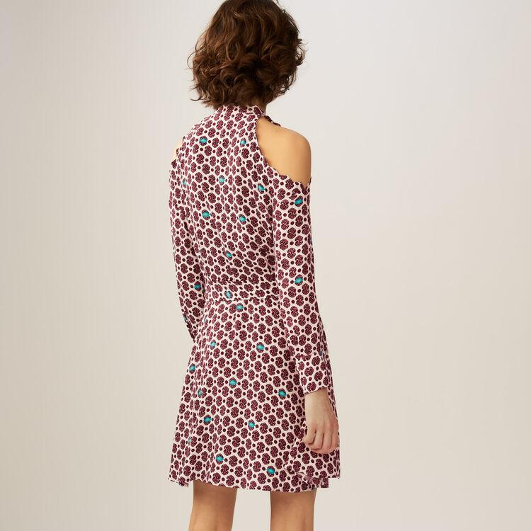 Vestido estampado con hombros : Vestidos color IMPRIME